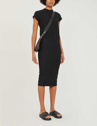 JAMES PERSE ドレス-ロング 関税込み◆Elasticated-waist stretch-cotton dress(3)
