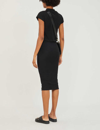 JAMES PERSE ドレス-ロング 関税込み◆Elasticated-waist stretch-cotton dress(4)