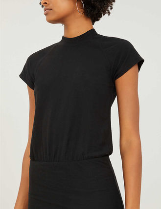 JAMES PERSE ドレス-ロング 関税込み◆Elasticated-waist stretch-cotton dress(5)