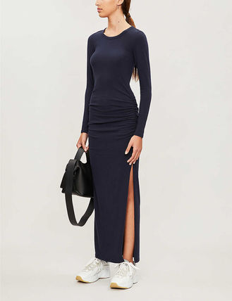 JAMES PERSE ドレス-ロング 関税込み◆Round-neck stretch-cotton maxi dress(3)