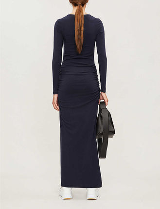 JAMES PERSE ドレス-ロング 関税込み◆Round-neck stretch-cotton maxi dress(4)