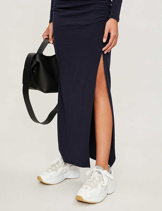JAMES PERSE ドレス-ロング 関税込み◆Round-neck stretch-cotton maxi dress(5)
