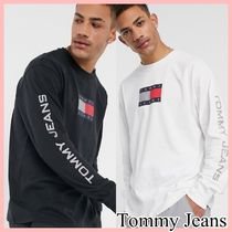 Tommy Jeansトミージーンズ Tシャツ 袖ロゴ ロンT 長袖 送料込み