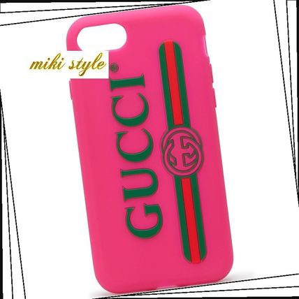 GUCCI スマホケース・テックアクセサリー 【GUCCI】 rubber iphone 7 case with gucciロゴ