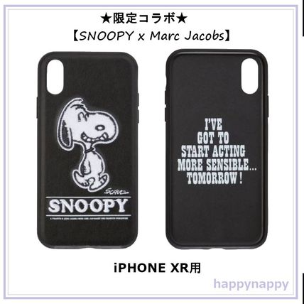MARC JACOBS スマホケース・テックアクセサリー 【Marc Jacobs】SNOOPYコラボ iPHONE XRケース