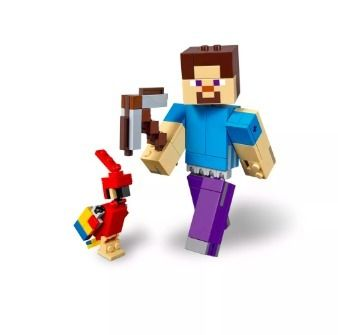 Target キッズ・ベビー・マタニティその他 LEGO Minecraft Steve BigFig with Parrot 21148 レゴマインクラフト(6)