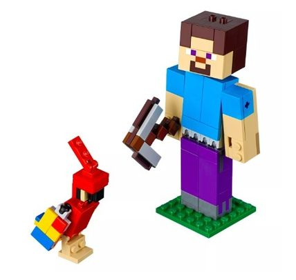 Target キッズ・ベビー・マタニティその他 LEGO Minecraft Steve BigFig with Parrot 21148 レゴマインクラフト(7)