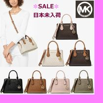◆MK◆Camille Small Logo and Leather Satchel