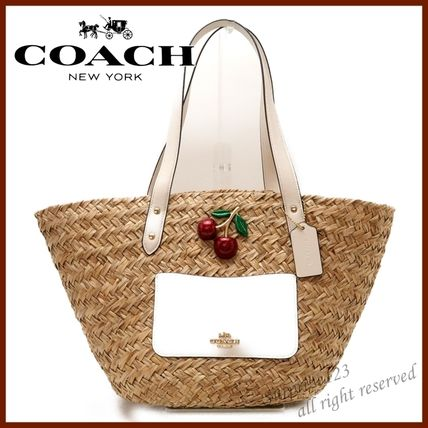 Coach かごバッグ 【即発】コーチCOACH バッグ トートバッグ ストロー 72705IMOU1