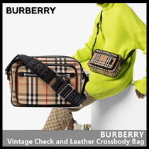 Burberry(バーバリー) ショルダーバッグ・ポシェット 【BURBERRY】Vintage Check and Leather Crossbody Bag 8010152
