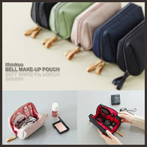 ◆ithinkso◆BELL MAKE-UP POUCH(5色) 便利シンプルメイクポーチ