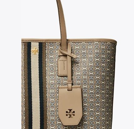 Tory Burch トートバッグ 【Tory Burch】 GEMINI LINK CANVAS SMALL TOP-ZIP TOTE(2)