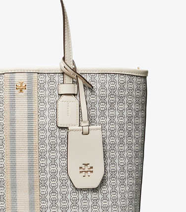 Tory Burch トートバッグ 【Tory Burch】 GEMINI LINK CANVAS SMALL TOP-ZIP TOTE(6)