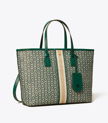 Tory Burch トートバッグ 【Tory Burch】 GEMINI LINK CANVAS SMALL TOP-ZIP TOTE(8)