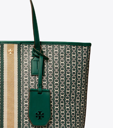 Tory Burch トートバッグ 【Tory Burch】 GEMINI LINK CANVAS SMALL TOP-ZIP TOTE(9)