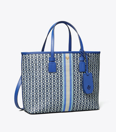 Tory Burch トートバッグ 【Tory Burch】 GEMINI LINK CANVAS SMALL TOP-ZIP TOTE(12)