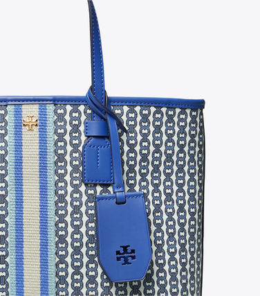 Tory Burch トートバッグ 【Tory Burch】 GEMINI LINK CANVAS SMALL TOP-ZIP TOTE(13)
