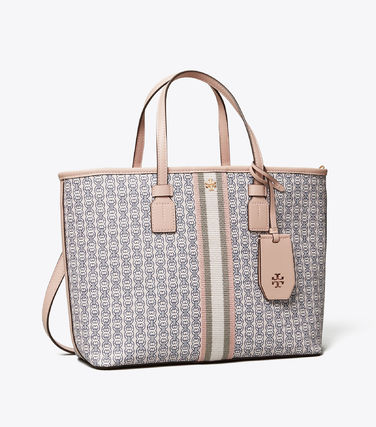 Tory Burch トートバッグ 【Tory Burch】 GEMINI LINK CANVAS SMALL TOP-ZIP TOTE(15)