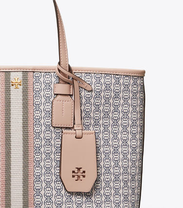 Tory Burch トートバッグ 【Tory Burch】 GEMINI LINK CANVAS SMALL TOP-ZIP TOTE(16)