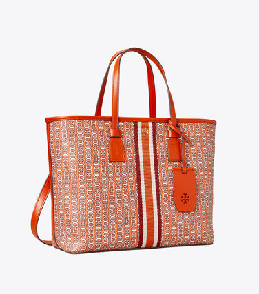 Tory Burch トートバッグ 【Tory Burch】 GEMINI LINK CANVAS SMALL TOP-ZIP TOTE(18)