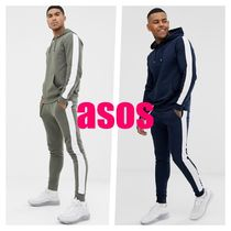 【ASOS】tracksuit with hoodie and side stripe (2色)