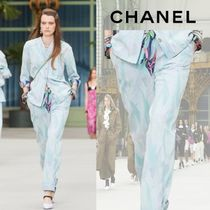 【Pre-Collection 2019/20】★CHANEL★プリント デニムジーンズ
