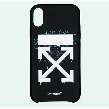 Off-White スマホケース・テックアクセサリー 【関税込】OFF WHITE◆DRIPPING アローズロゴ iPhone XR/XS MAX