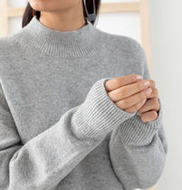 """""""& Other Stories"""" Mock Neck Sweater Gray"""