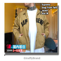 【国内即発】18FW/AW  SUPREME Snap Front Twill Jacket
