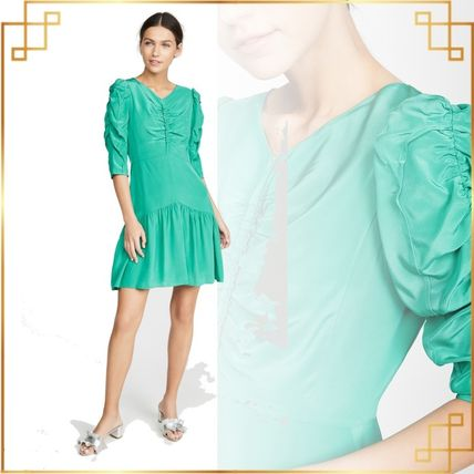 rebecca taylor ボレロ・ショール 関税込み◆Long Sleeve Silk Ruched Dress