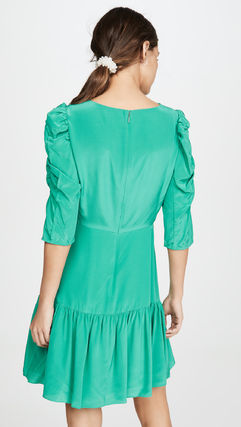 rebecca taylor ボレロ・ショール 関税込み◆Long Sleeve Silk Ruched Dress(3)