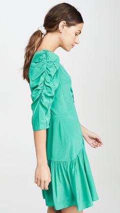 rebecca taylor ボレロ・ショール 関税込み◆Long Sleeve Silk Ruched Dress(4)