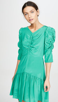 rebecca taylor ボレロ・ショール 関税込み◆Long Sleeve Silk Ruched Dress(5)