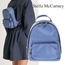 STELLA McCARTNEY FALABELLA SMALL BACKPACK IN SHAGGY DEER