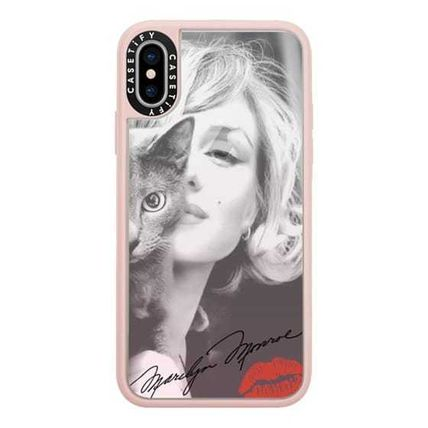 Casetify スマホケース・テックアクセサリー Casetify iphone Gripケース♪Simply Monroe in Pink with cat♪(2)