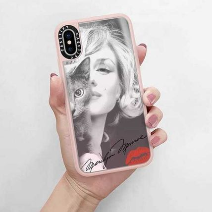 Casetify スマホケース・テックアクセサリー Casetify iphone Gripケース♪Simply Monroe in Pink with cat♪(5)