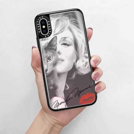 Casetify スマホケース・テックアクセサリー Casetify iphone Gripケース♪Simply Monroe in Pink with cat♪(9)