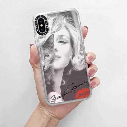 Casetify スマホケース・テックアクセサリー Casetify iphone Gripケース♪Simply Monroe in Pink with cat♪(13)