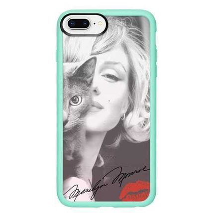 Casetify スマホケース・テックアクセサリー Casetify iphone Gripケース♪Simply Monroe in Pink with cat♪(15)