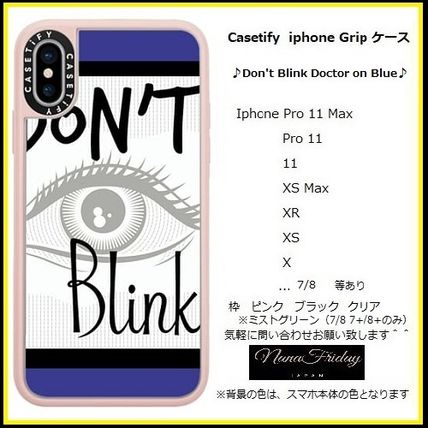 Casetify スマホケース・テックアクセサリー Casetify iphone Gripケース♪Don't Blink Doctor on Blue♪