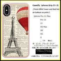 Casetify iphone Gripケース♪Paris Eiffel Tower and Red ...♪