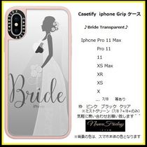 Casetify iphone Gripケース♪Bride Transparent♪