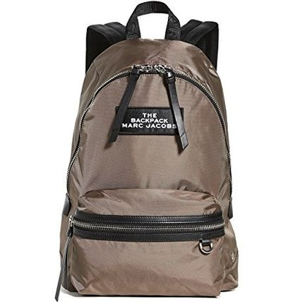 MARC JACOBS バックパック・リュック 関送込*Marc Jacobs*レザートリム*ロゴ*ナイロン*バックパック(7)