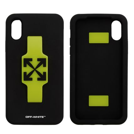 Off-White スマホケース・テックアクセサリー 関税込☆Off-White Arrows フィンガー グリップ iPhone XS MAX