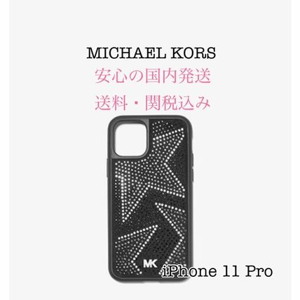 Michael Kors スマホケース・テックアクセサリー *国内発送* MK Embellished iPhone Cover for iPhone 11 Pro