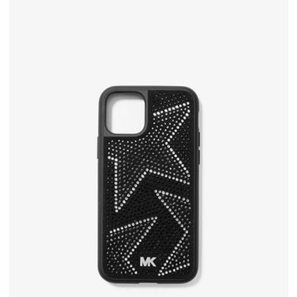 Michael Kors スマホケース・テックアクセサリー *国内発送* SALE MK Embellished iPhone Cover for iPhone 11(2)