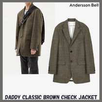 [ANDERSSON BELL]DADDY CLASSIC BROWN CHECK JACKET★韓国の人気