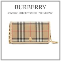 【BURBERRY】・関税込み・ヴィンテージチェックiPhoneケース