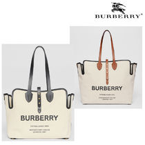 BURBERRY◆ロゴ トートバッグ