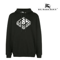 BURBERRY★BLACK HOODIE WITH WHITE LOGO